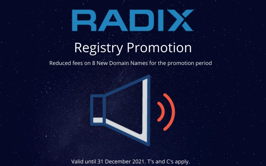 Radix Registry Promotion